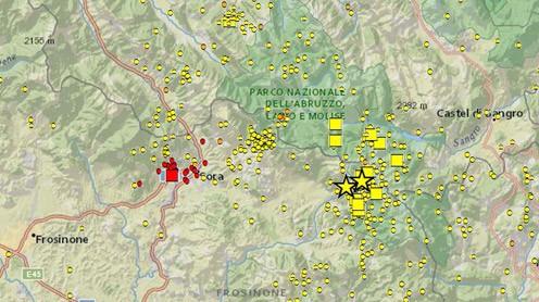 Terremoto 4.8 del 16 Febbraio con epicentro a Sora: l'approfondimento dettagliato dell'INGV